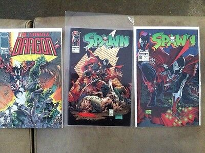 SPAWN 3-pack! Issues 8 , 28 , and The Savage Dragon 30
