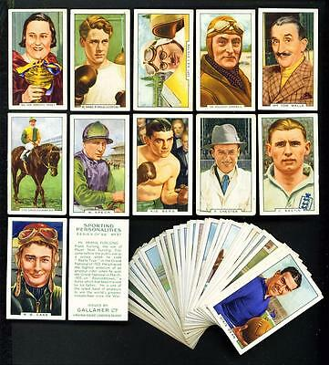 PART SET – 47/48 x SPORTING PERSONALITIES – GALLAHER – 1936