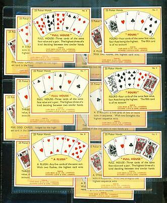 17 x THE GAME OF POKER (LARGE) – COPE BROS – 1936