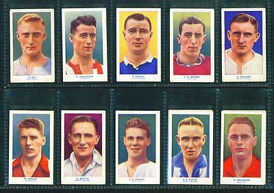 12 x FAMOUS FOOTBALLERS – HILL (COLOUR – ARCHER BACKS) – 1939