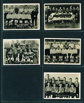 5 x PHOTOCARDS (SERIES D) – SCOTS FOOTBALL TEAMS – ARDATH – 1936