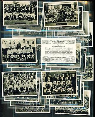 24 x PHOTOCARDS (SERIES F) – SOUTHERN FOOTBALL TEAMS – ARDATH – 1936