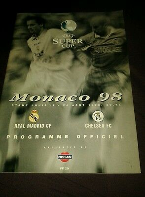 UEFA SUPER CUP 1998: Chelsea v Real Madrid excellent condition