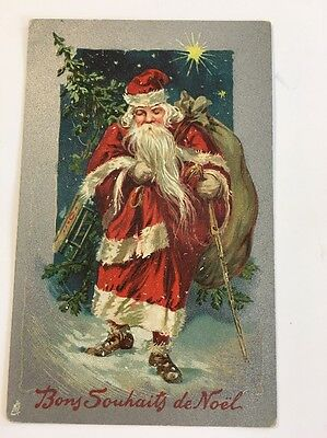TUCK'S OLD WORLD SANTA CLAUS MONTREAL 1910 BONS SOUHAITS DE NOEL Series 137 PERE