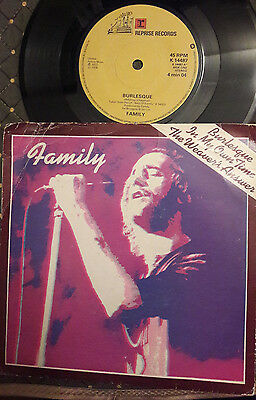 """FAMILY Burlesque UK Reprise 3-track 7"""" picture sleeve record vinyl"""
