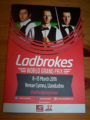 World Grand Prix Snooker Signed Programme 2016 Selby Murphy Robertson + More