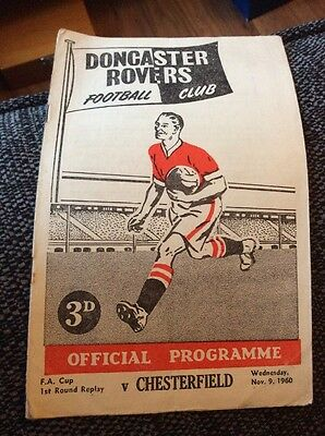 Doncaster Rovers v Chesterfield 1960/61 FA Cup Replay Programme