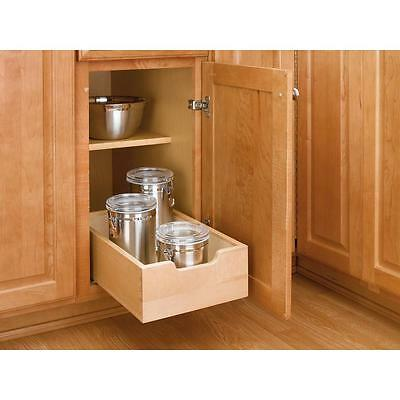 Rev-A-Shelf 4WDB-12 Small Base Cabinet Pull Out Wood Drawer Kitchen Organizer