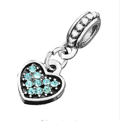 hot European Silver CZ Charm Beads Fit sterling 925 Necklace Bracelet Chain xc9m