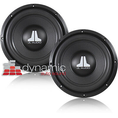 "(2) JL AUDIO 12WXv2 Car 12"" Subwoofers SVC 4-Ohm 400 Watts Subs WXv2 Pair New"