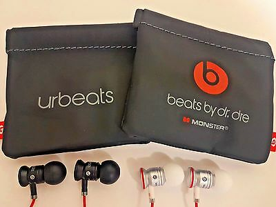 Genuine Monster Beats by Dr Dre URBEATS In Ear Headphones Earphone Black/White