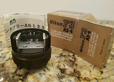 Genuine Nikon AS-4 Flash Coupler for F3 - Never Used