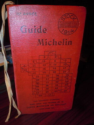 TRES Beau guide rouge  Michelin 1914