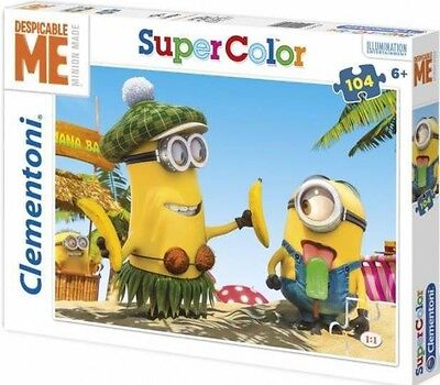Minions 104 Teile Puzzle 6+ Clementoni Super Color Puzzel Despicable Me Minion