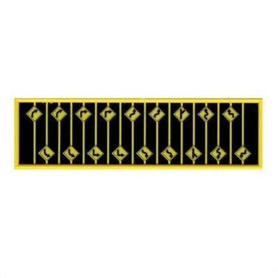 N 18-piece Yellow Road Path Warning Signs - Tichy Train Group #2616 vmf121