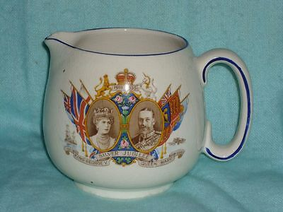 Souvenir Pitcher, Silver Jubilee, King George V & Queen Mary
