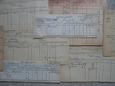 Midland Railway paperwork. All to / from Dursley station. 1895 - 1900.