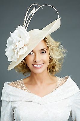 Nigel Rayment Ivory Wedding Ascot Disc Fascinator Hat Occasion Mother Of The Bri