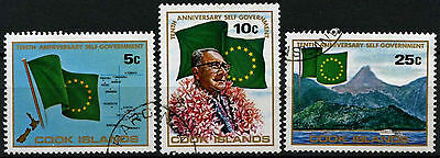 Cook Islands 1975 SG#526-8, 10th Anniv Self Government Used Set #D42527