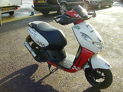 PEUGEOT KISBEE 100cc 2013 JUST MOT`D NEW OIL SPORTY SILENCER GOES WELL