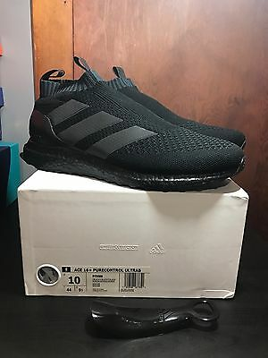Details about Adidas ACE 16+ PureControl Ultra Boost Triple Black Model BY9088 Mens 10.5 NIB