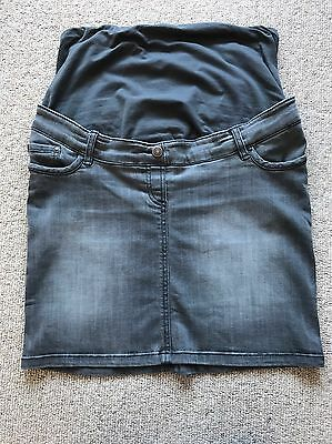 Grey Denim Maternity Skirt Size From Vertbaudet Size 12 Excellent Condition