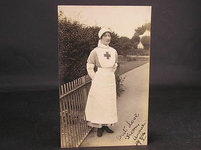 WWI Postcard Love from Nurse Annie Red Cross Pavilion Hospital Old Trafford