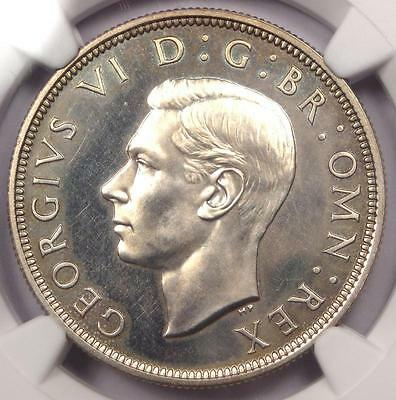 1937 PROOF Great Britain George VI Half Crown 1/2C Coin - NGC PR64 (PF64)!