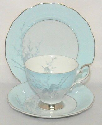 1-Royal Standard Giselle Pattern Cup & Saucer and Plate Trio