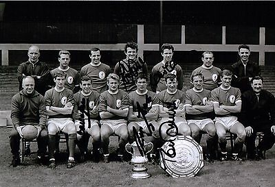 Liverpool Fc 1965 Team Photo - Authentic Hand-Signed By 5