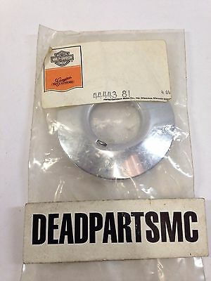 Harley NOS 44443-81 front wheel hub cap trim cover