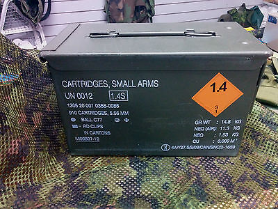 Canadian 5.56 Ammo Can /Box With NEW Lock Kit And Instructions