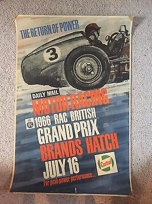 1966 British Grand Prix Official Poster