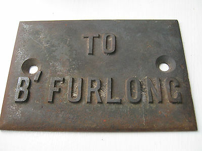 London and North Western Railway cast signal lever plate.