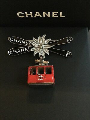 Chanel Cable Car Ski Lift Brooch