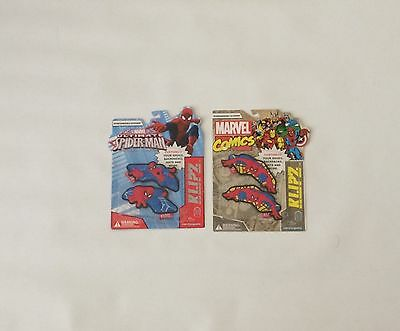 NIB Marvel Klipz Ultimate Spider-Man 2 Pack Kids Shoe Accessory