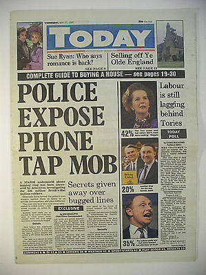 Vintage Newspaper Today Wednesday May 27 1987