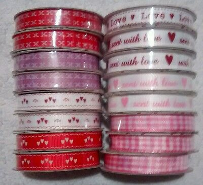 Dovecraft 'with love' Grosgrain 2m ribbon 10mm craft gift Mothers day valentines