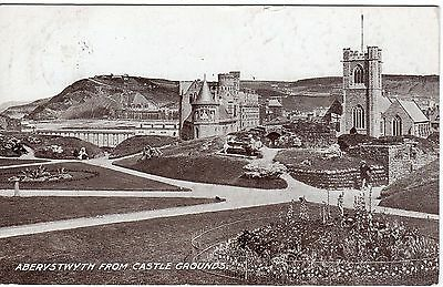 Postcard Aberystwyth From Castle Grounds Inc. Pier Cardiganshire Wales 1912