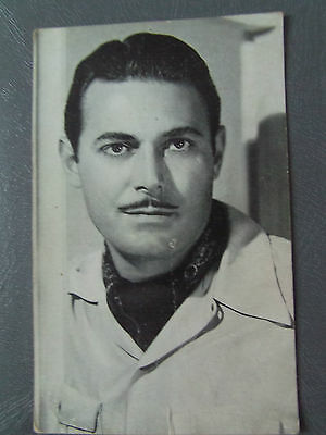 Vintage JON HALL FILM ACTOR 40s Paramount  RP POSTCARD Movie Star