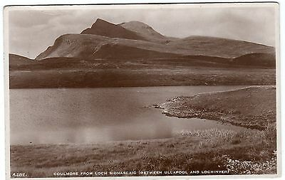 Postcard Coulmore From Loch Sionascaig Ullapool & Lochinver Scotland 1939 RP