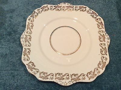 CLEARANCE Vintage Royal Stafford White And Gold China Cake Or sandwich Plate