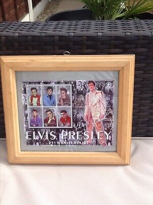 Elvis Presley 25th Anniversary Edition Republic of Guinee stamps in frame