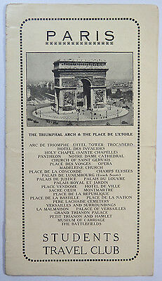 Students Travel Club - Paris, France Sightseeing Brochure - Churches, Monuments