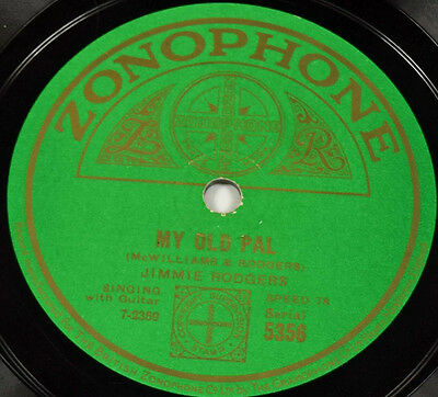 Schellack Jimmie Rodgers - Daddy And Home / My Old Pal Grammophon gramophone
