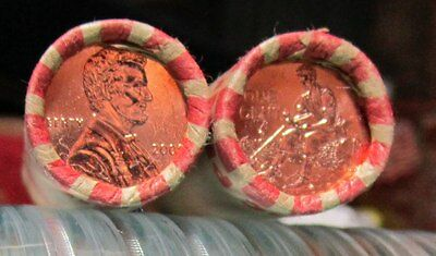 """2009 (2) Rolls Lincoln Cent LP2- P Philly""""FORMATIVE YEARS""""LOOMIS Bank Box Rolls"""