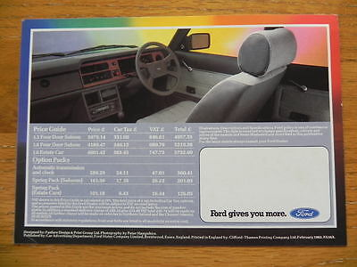 Ford Cortina Mk5 Carousel Limited Edition 1982 UK Market Foldout Sales Brochure