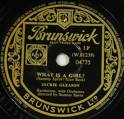 Schellackplatte - Jackie Gleason - What Is A Boy / What Is A Girl - gramophon