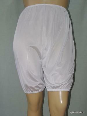 VINTAGE SILKY SHEER WHITE NYLON DK's DIRECTOIRE KNICKERS BLOOMERS XL