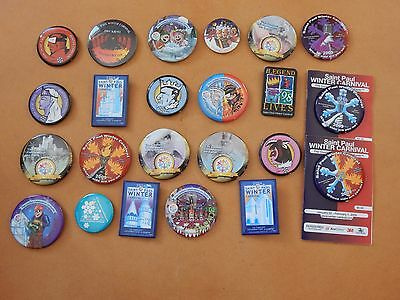 Lot of 24 St. Paul Winter Carnival buttons
